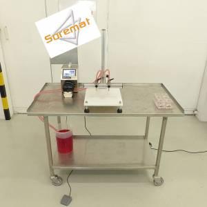 Remplisseuse 2 becs avec pompe péristaltique 2L/mn